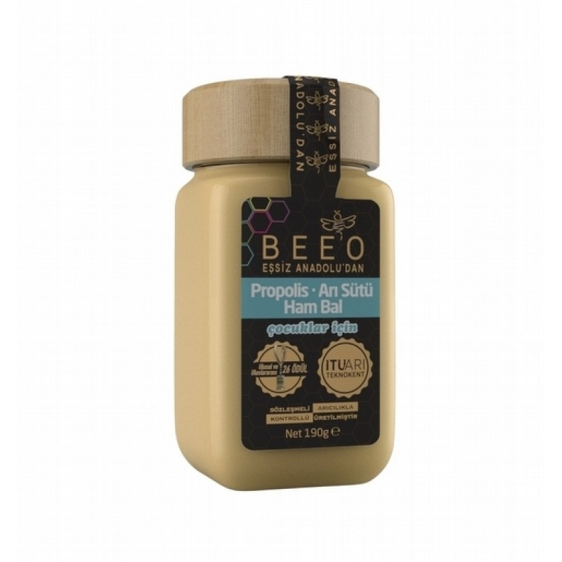 BEEO PROPOLIS + BEE'S MILK + RAW HONEY MIX (FOR CHILDREN)