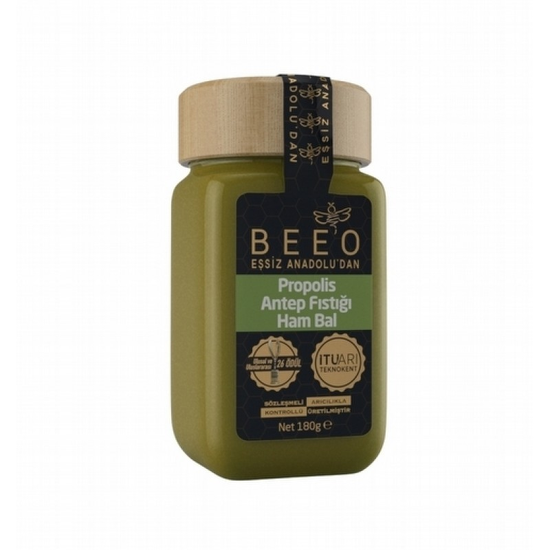 BEEO Pistachio + Raw Honey + Propolis